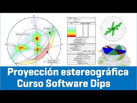 Proyeccion estereografica - Curso Software Dips - (Geotecnia y Geomecanica)