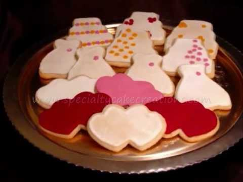 specialty bridal shower cookies
