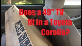 """Does a 49""""/50"""" TV fit in a Small Sedan? (Toyota Corolla)"""