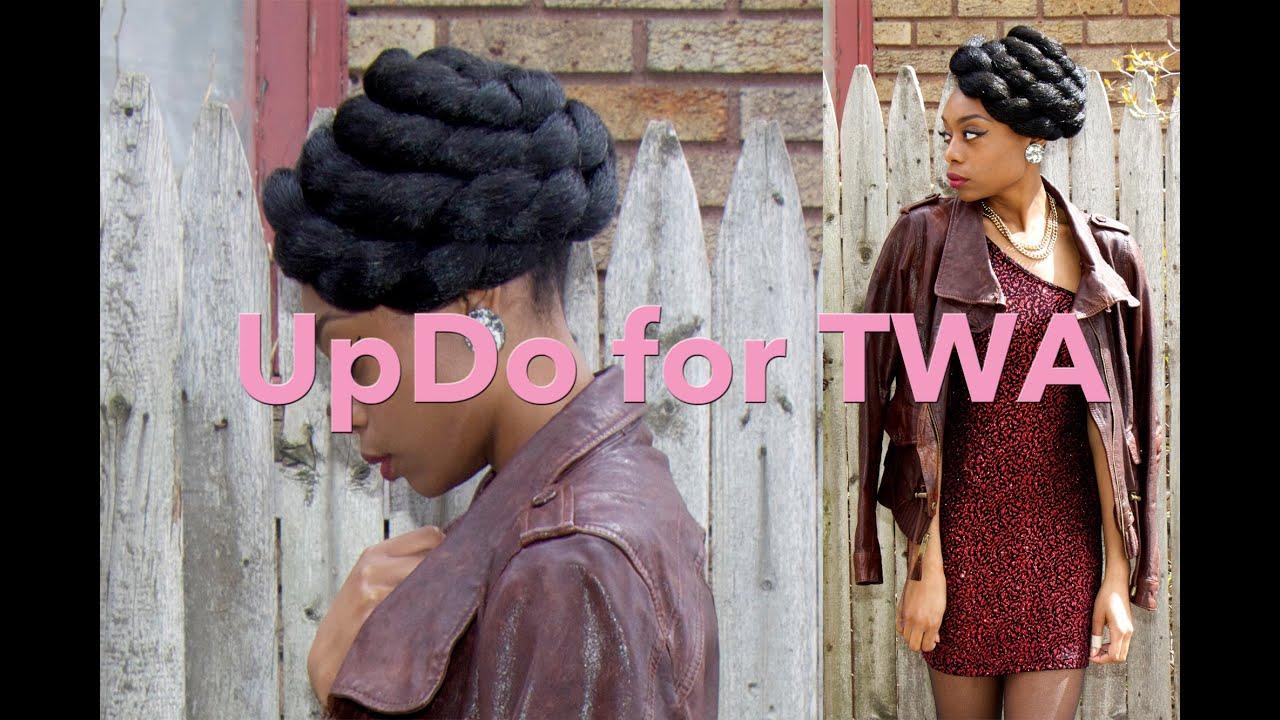 Updo hairstyle for twa gloria ann youtube pmusecretfo Image collections