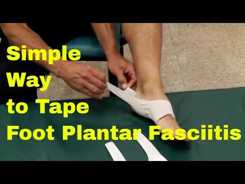 Simple Way To Tape & Stretch Foot Plantar Fasciitis. Quick Tape Review