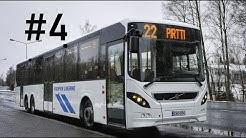 Kuopion Liikenne #4 Volvo 8900LE B8RLE 6x2 ensimmäistä kertaa ajossa Kuopiossa