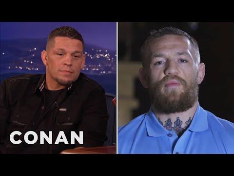 Conor McGregor Calls Out Nate Diaz  - CONAN on TBS