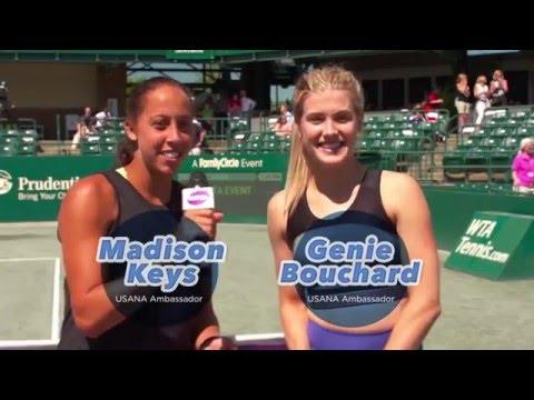 Genie Bouchard and Madison Keys #WorkoutWithUSANA in Charleston