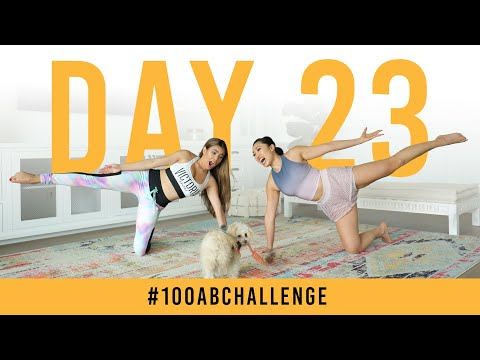 Day 23: 100 Kneeling Side Squeezes! | #100AbChallenge w/ Adelaine Morin