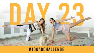 Day 23: 100 Kneeling Side Squeezes! | #100AbChallenge w/ Adelaine Morin