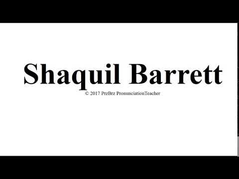 SHAQUIL BARRETT pronunciation 🔥
