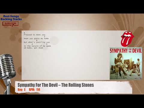 Sympathy For The Devil – The Rolling Stones Vocal Backing Track with chords and lyrics