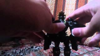 Digimon Digivolving toy Loweemon to Duskmon