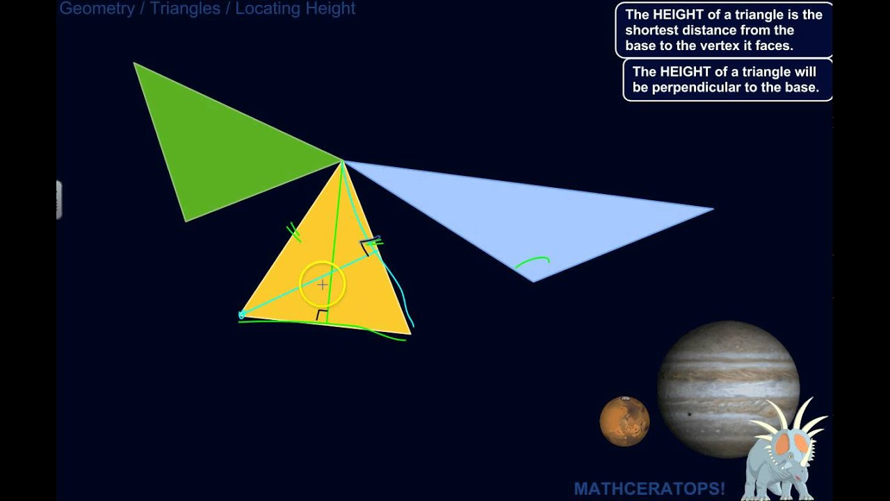 How To Find The Heights Of Acute, Right, And Obtuse Triangles