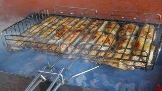 Как приготовить лаваш с колбасками на гриле. | How to prepare pita bread with sausages on the grill.