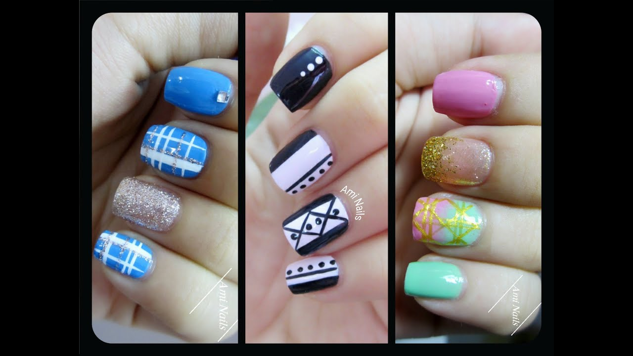 3 Nail Art Designs Using Nail Striper Nail Art For Beginners for The Most Incredible easy nail designs using stripers for your reference