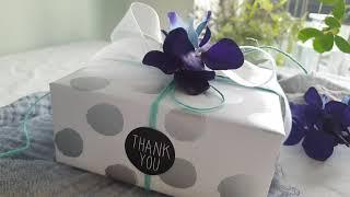 다이소 포장재료로 예쁜선물포장하기 Gift Wrappi…
