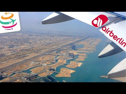 AIR BERLIN A330 Goodbye Taxi, Takeoff and Landing from Abu Dhabi to Berlin | GlobalTraveler.TV