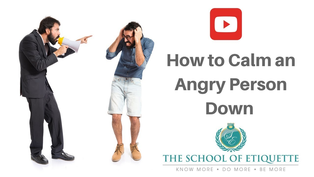How to calm a person