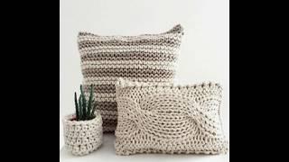 Модели для вдохновения, чтобы связать декоративную подушку. Выбирайте любою для моего МК