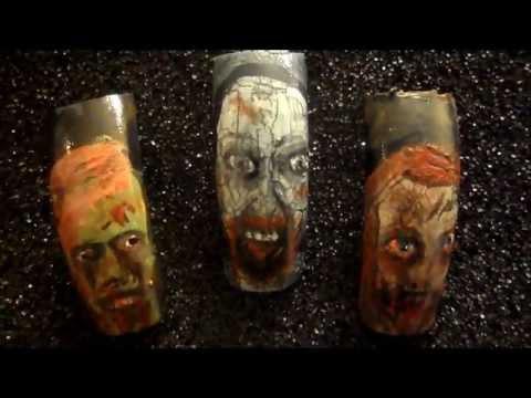 zombie nail art design