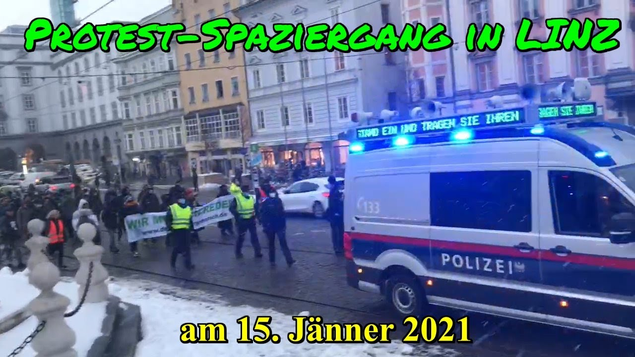 PROTEST-SPAZIERGANG in LINZ am 15. Jänner 2021