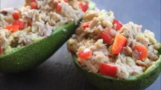 HEALTHY TUNA STUFFED AVOCADO|| IN HEATHERS KITCHEN
