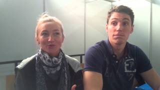 Interview with Aliona Savchenko & Bruno Massot at Eissportzentrum Oberstdorf
