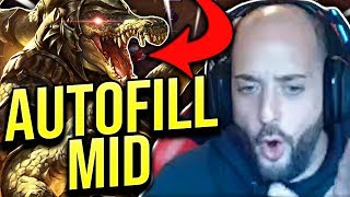 HOW TO GET FREELO WHEN AUTOFILLED!! AUTOFILL RENEKTON MID! - Road To Challenger | League of Legends thumbnail