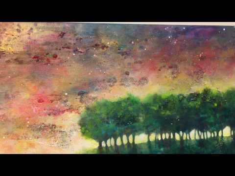 Acrylic abstract landscape painting – commission