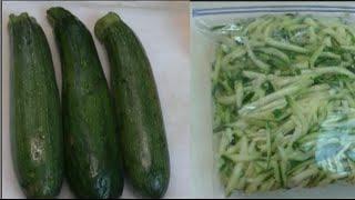 How To Freeze Zucchini No Blanching ~ Noreen's Garden