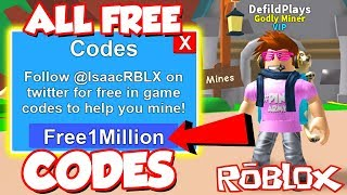 (Codes) ALL UP TO DATE TWITTER MONEY CODES In Roblox Mining Simulator! *SO MANY FREE ITEMS!? *