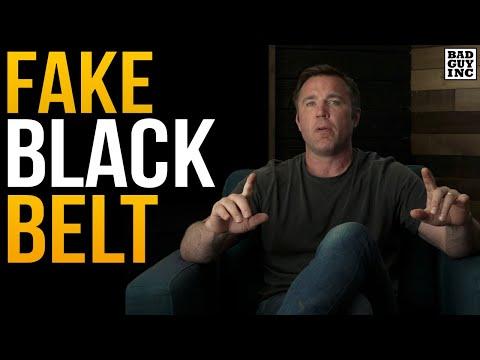 I was a FAKE Black Belt...