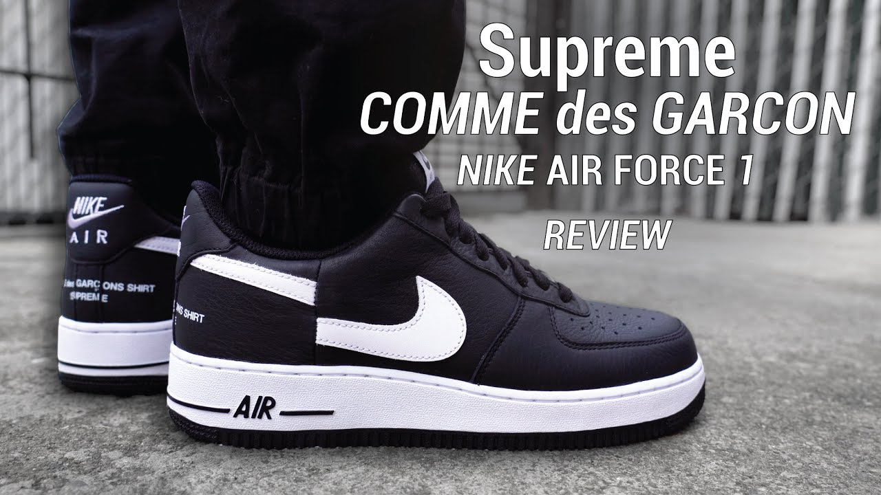 influenza parque espiritual  SUPREME CDG NIKE Air Force 1 Low Review & On Feet - YouTube