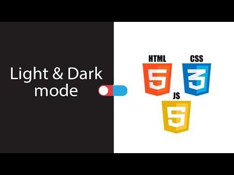 Switch Light & Dark Mode | HTML CSS Mode Change With JavaScript