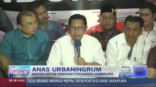 Anas Urbaningrum Gelar Jumpa Pers (Pernyataan Lengkap) - Breaking News 10 Januari 2014