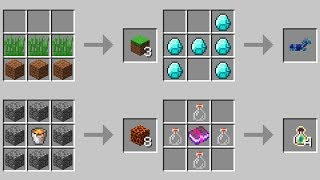 NEW CRAFTING TABLE RECIPES (Minecraft 1.13 Snapshot)