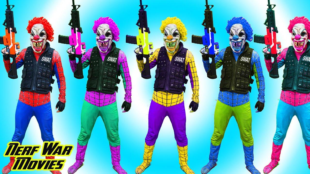 Nerf War Movies: Team Patrol X Warriors Nerf Guns Fight Criminal Group Destroy Monster Spider
