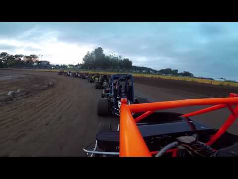 600 Rookie Micro Sprint Feature @ Hamlin Speedway 6/17/17 Uncut