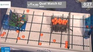 VEX Worlds 2016 - VEXIQ Middle School - Math - Qual 62 (10543C 1010A) 149