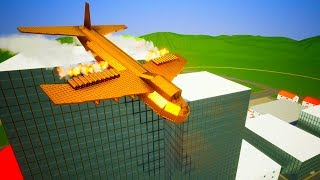 Lego Airplane Falls Crashes #4   Brick Rigs