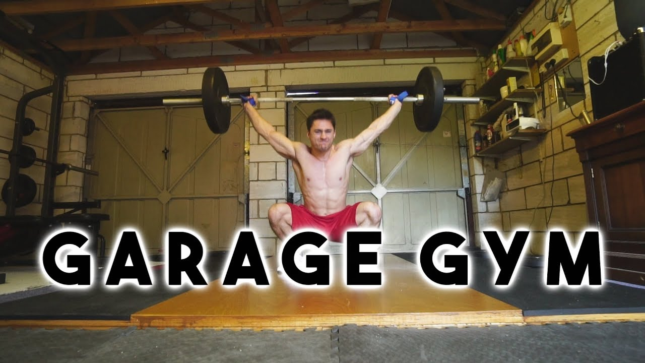 Building an olympic lifting platform and garage gym tour