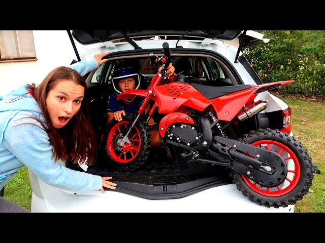 Funny Baby Ride on New Dirt Cross Bike Mini Power Wheel Pocket Bike Hide and Seek with Mommy