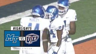 Middle Tennessee vs. UTEP Football Highlights (2018) | Stadium