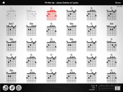 fill me up guitar chords