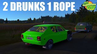 My Summer Car -  2 Drunks 1 Rope (Towing Service it workes)