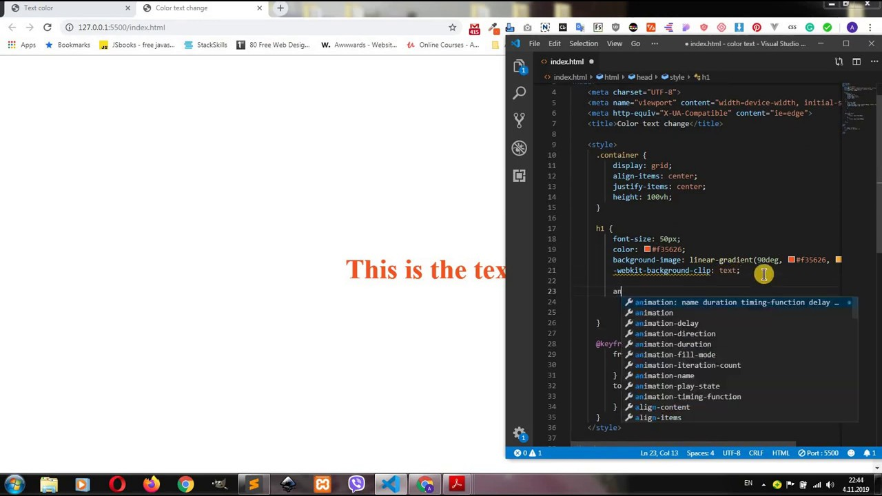Automatic Text Color Change Css Filter Learn To Code Text Color
