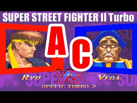 [Arcade] Ryu vs M.Bison - SUPER STREET FIGHTER II Turbo