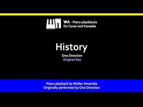 History - One Direction - Piano Playback for Cover/Karaoke