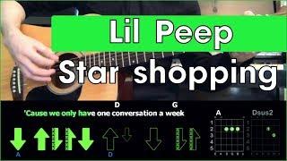 Lil Peep Star Shopping Tutorial Разбор песни на гитаре Табы аккорды и бой