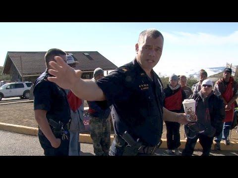Police At Mauna Kea TMT Blockade