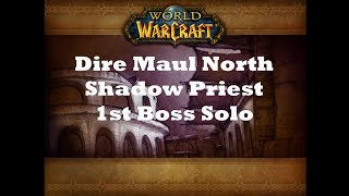 World Of Warcraft Classic - Dire Maul North Shadow Priest Solo First Boss
