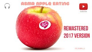 asmr 2017 version close up apple eating mouth sounds mouth sounds no talking binaural