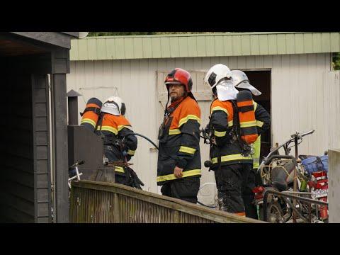 06.06.21 Brand i garage tæt på villa i Korsør